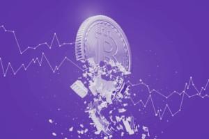 Harga Bitcoin (BTC) telah turun tajam dan membukukan kerugian besar.  Siklus bitcoin dengan cepat kehilangan nilainya.  Ini juga dikenal sebagai dump BTC.  Gambar menunjukkan jatuhnya harga bitcoin pada grafik harga turun.