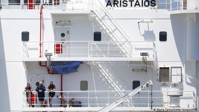 Gambar simbolis awak kapal selama pandemi Corona